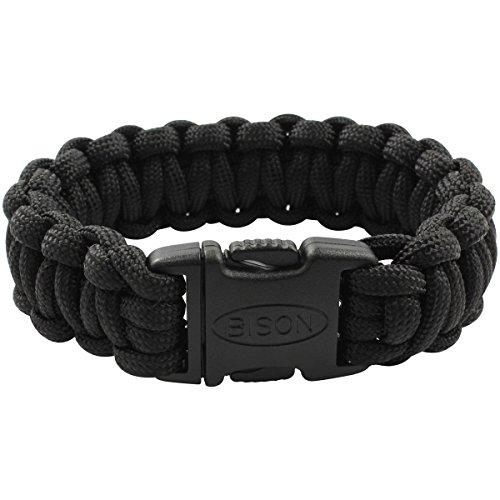 Bison Designs Paracord Side Release Survival Bracelet - 19SR BK by Bison