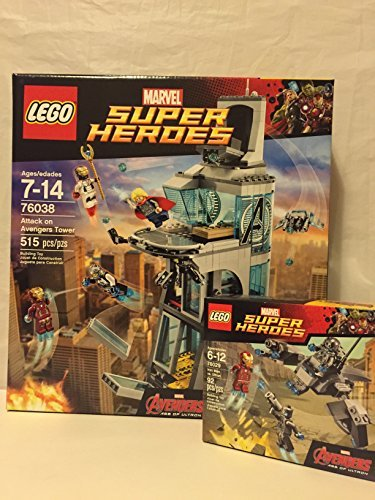 Lego Super Heroes Attack on Avengers Tower & Super Heroes ...