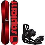 Sapient Fader 144 Youth Snowboard + Rossignol Battle V1 Bindings - Fits Youth Boot Sizes: 6,7,8,9
