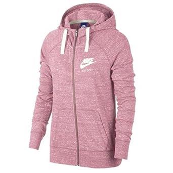Nike Felpa con Zip e Cappuccio Donna Rosa Melange: Amazon.es: Deportes y aire libre