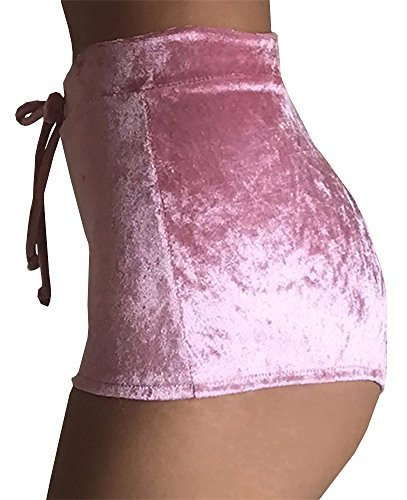 Chuanqi Women's High-Waisted Elastic Crotch Stretchy Shorts With Velvet Gym