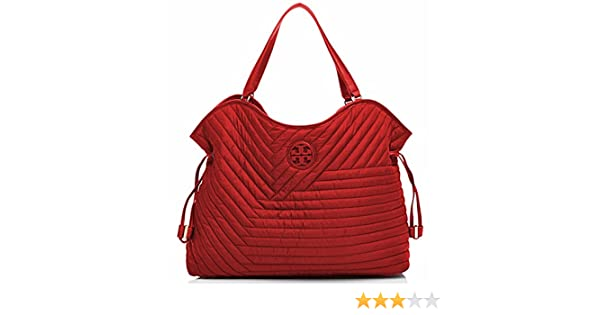 a607a2d9c95 Amazon.com  Tory Burch Tote Quilted Nylon Slouchy Handbag  Clothing