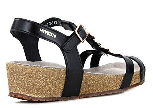 Mephisto Irma Cigale 6200 Black Damen T-Spangen Sandalen Nero