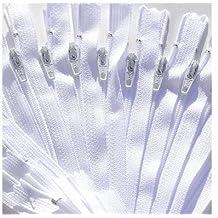 "SALE 20\"" Zipper YKK Color 501 White #3 Skirt & Dress (12 Zippers / Pack)"