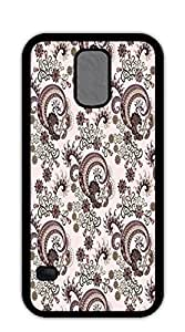 Hard Plastic and Aluminum Back case for samsung galaxy s5 for girls - Colorful paisley flower