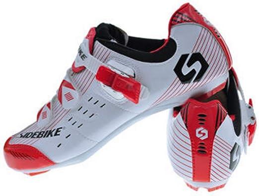 SIDEBIKE Zapatos de Ciclismo con Pedales y Calas, Zapatillas de ...
