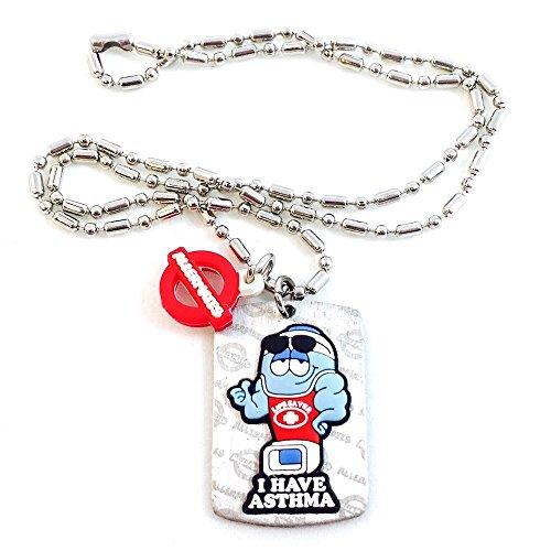 AllerMates Kids Medical Alert Asthma Children's Necklace
