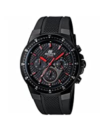 Casio Men's Edifice EF552PB-1A4V Black Resin Analog Quartz Watch