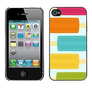 X-ray Impreso colorido protector duro espalda Funda piel de Shell para Apple iPhone 4 / iPhone 4S / 4S - Food Pastel Pretty Colors Sweet