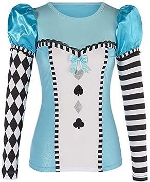 Halloween Alice Au Pays Des Merveilles Costume Déguisement Tenue Lingerie Sous-vêtements 8-18