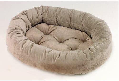 Bowsers Microvelvet Donut Dog Bed Granite, Large 42in x 32in