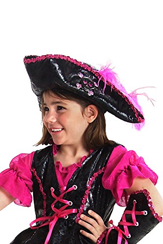 Tricorner Pirate Feather Adult Hat (Princess Paradise Kids Caribbean Pirate Hat)