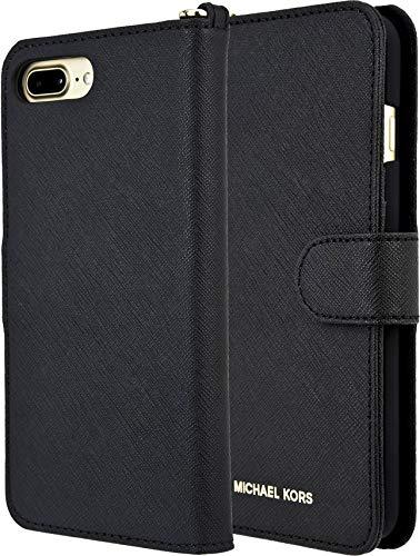 Michael Kors Saffiano Leather Folio for AiPhone 8 Plus/7 Plus 5.5 - Black