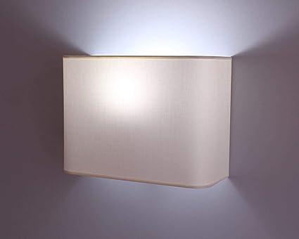Generico lampada da parete applique da muro in tessuto cotone