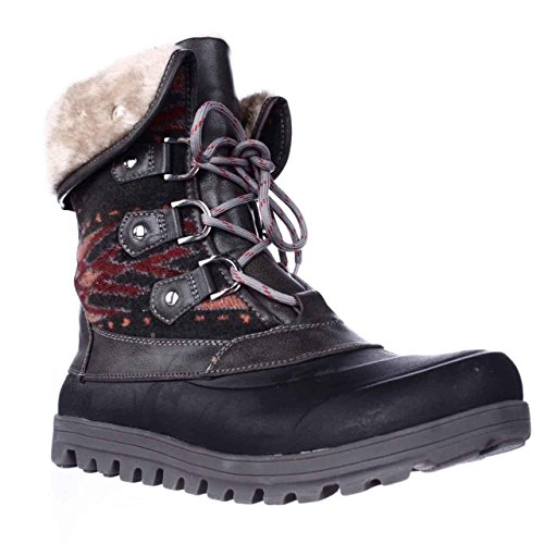 UPC 825443702546, BareTraps Yaegar Lace-Up Cold-Weather Booties - Dark Grey, 9.5 M US