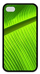 iPhone 4 4s Case, iPhone 4 4s Cases - Banana leaves desktop TPU Polycarbonate Hard Case Back Cover for iPhone 4 4s¨CBlack
