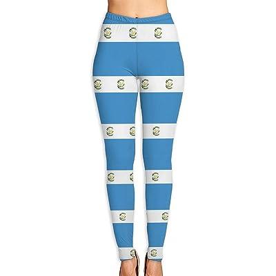 Abusss Pantalons Yoga de Tela Deportivos de Cintura Alta Pantalones de Guatemala Flag Womens Ultra Soft Leggings Fashion High Waist Yoga Pants Printed Sport Workout Leggings Tight Pants: Ropa y accesorios