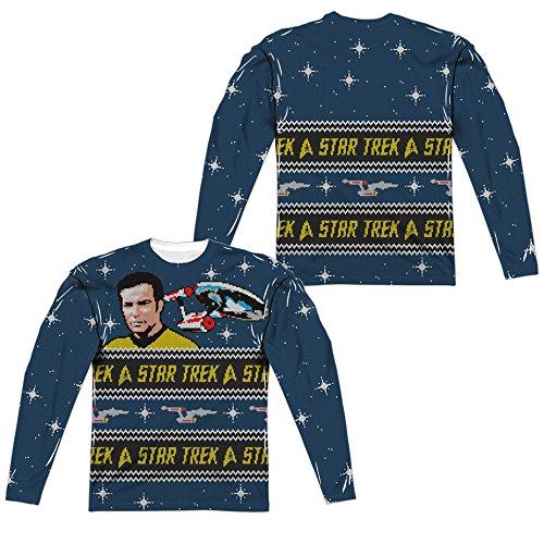 Long Sleeve: Star Trek- Starry Enterprise Ugly Sweater