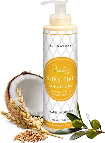 Nature Lush Organic Olive Silky Hair Conditioner - Sulfate Free Treatment - Powerful Stimulator for Hair Roots - Daily Use for Men & Women - Provides Vital Vitamins & Proteins ()