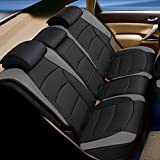 FH GROUP PU205013 Ultra Comfort Leatherette Seat Cushions (Split Bench), Gray / Black Color - Fit Most Car, Truck, Suv, or Van