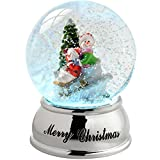 WeRChristmas Snowmen And Sleigh Colour Changing Snow Globe, 10 Cm - Multi-Colour