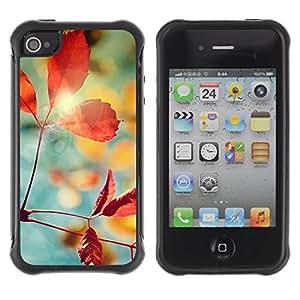 Suave TPU Caso Carcasa de Caucho Funda para Apple Iphone 4 / 4S / Plant Nature Forrest Flower 1 / STRONG