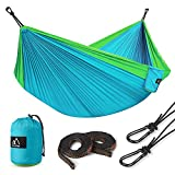 Nylon Hammock, Terra Hiker Lightweight Hammock, Portable Hammock, Straps & Carabiners Included, for Backpacking, Camping, Travelling, Beach, Yard