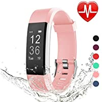 LETSCOM Fitness Tracker HR, Heart Rate Monitor Watch,...