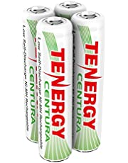 Tenergy CenturaAAA NIMH Rechargeable Battery,800mAh Low Self DischargeTriple A Battery,Pre-ChargedAAA Size Batteries Packfor Solar Lights/Remote Control/Toys/Mice (4 PCS)