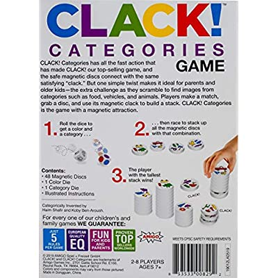 Clack! Categories Magnetic Stacking Game: Toys & Games