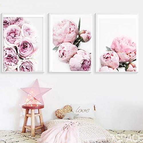 bromrefulgenc Wall Painting,Wall Modern Decoration for Livingroom,Modern Peony Painting Poster Wall Picture Home Bedroom Living Room Decoration - 1# 4050