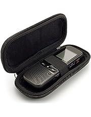 iGadgitz U6584 Negro EVA Funda de Transporte Estuche Zip Bolsa Compatible con Grabadora De Voz Digital (Dimensiones Internas : 125x50x22mm)