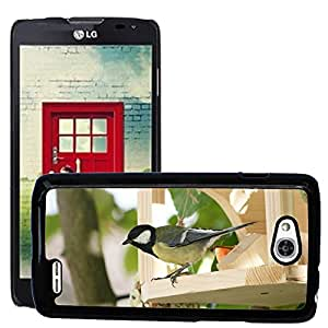 Hot Style Cell Phone PC Hard Case Cover // M00115327 Tit Parus Major Songbird Bird Feed // LG Optimus L90 D415