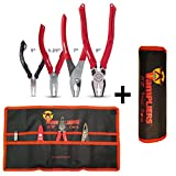 VAMPLIERS. Best Made Pliers! 4-PC Set S4AP Specialty Screw Extractions Pliers. Extract Stripped Stuck Security, Corroded or Rusted Screws/Nuts/Bolts With Tool Pouch