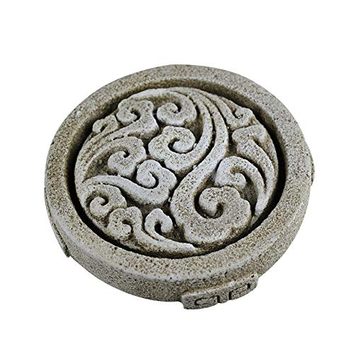Silicone Mold for Paperweight Tool Round with Traditional Chinese Style Pattern Handmade Craft Cement Decoration Tool
