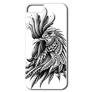 Personalized Custom Boys' Shells Cool Black White Rooster
