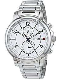 Womens Sophisticated Sport Quartz Stainless Steel Casual Watch, Color:Silver-Toned