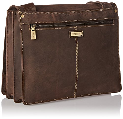 Visconti Harvard Distressed Leather Messenger Bag, Tan, One Size by Visconti (Image #1)