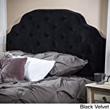 Christopher Knight Home 238890 Allyson Queen Button Tufted Fabric Headbaord, Black