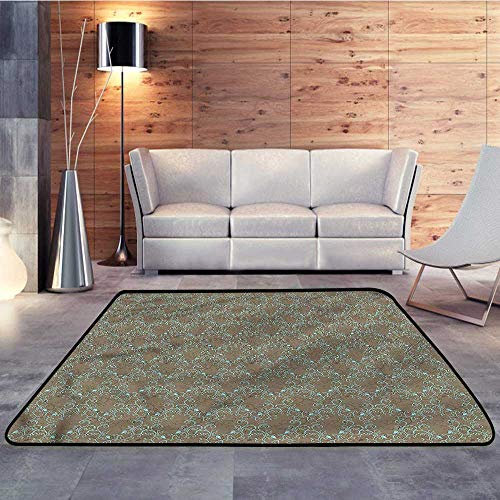 Outdoor Rugs,Damask,Baroque Spring CurlsW 47