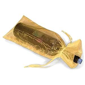 Hilai - Bolsas de regalo para botellas de vino de organza ...