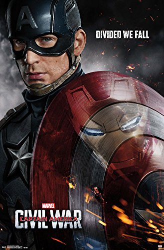 Captain America Poster (Trends International Captain America 3 One Sheet Wall Poster 22.375