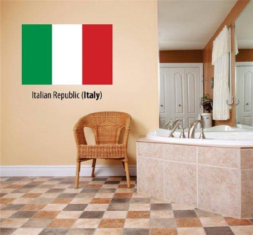 Decal – Vinyl Wall Sticker : Italian Republic  Flag Countr