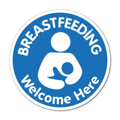 Breastfeeding Welcome Here Nursing Sticker Decal Shopfront Trading