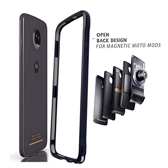 sports shoes 3ea02 78674 Moto Z2 Force Case,Dngn Bumper Frame Cover Compatible Moto Mods Aluminum  Metal Slim Fit for Motorola Moto Z2 Force (Moto Z2 Force Bumper)