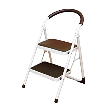 Fabulous Amazon Com Portable Folding 2 Step Ladder Stool Kitchen Caraccident5 Cool Chair Designs And Ideas Caraccident5Info