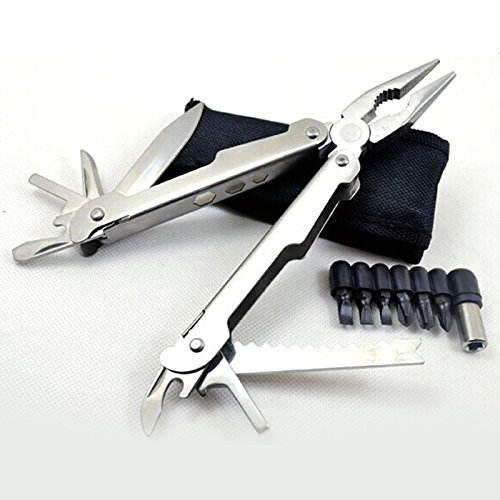 Long Nose Butterfly Fish (Best Multiplier Folding Knife - Ideal for Home, Office, Hunting, BBQ and Outdoor - Multiplier with 10 Tools Including Fish Scale, Pocket Knives, Wire Cutters, Bottle Opener and Screwdriver - Order High Quality Multiplier with Lifetime Guarantee)