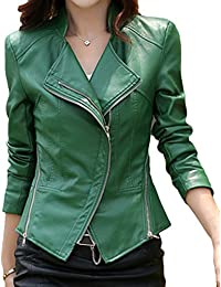 Amazon.com: Green - Leather & Faux Leather / Coats, Jackets ...