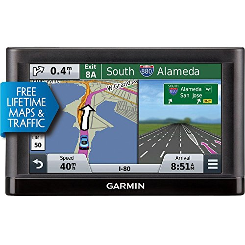 Garmin nüvi 55LMT GPS Navigators System with Spoken Turn-By-Turn Directions, Preloaded Maps and Speed Limit Displays (Lower 49 U.S. States)-(Certified Refurbished) by Garmin