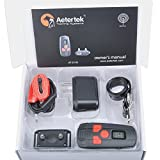 Aetertek 300 Yard Water resistant Rechargeable Remote Training Dog Collar with Beep, Vibration and Electric Shock perfect for small dogs (For 1 dog)